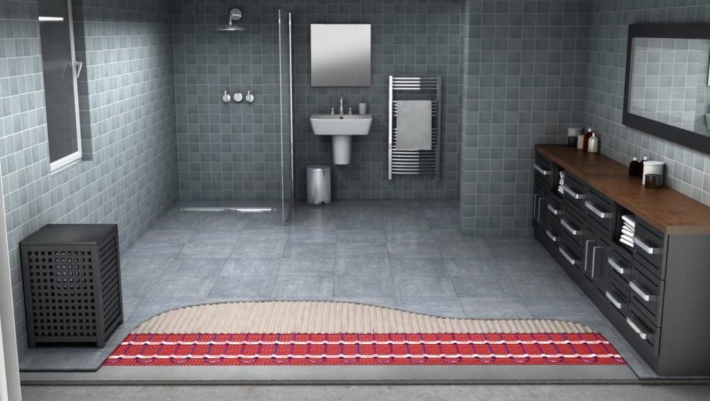 electric floor radiant heating, under floor radiant heat, radiant floor heating cost, heated bathroom floor worth it